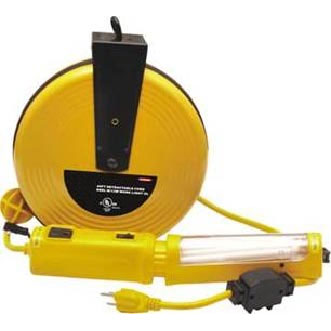 40Ft Retractable Cord Reel W/13W Work Light UL