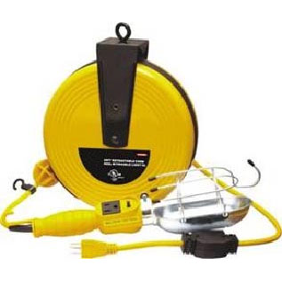 50FT Retractable Cord Reel W/Trouble Light UL